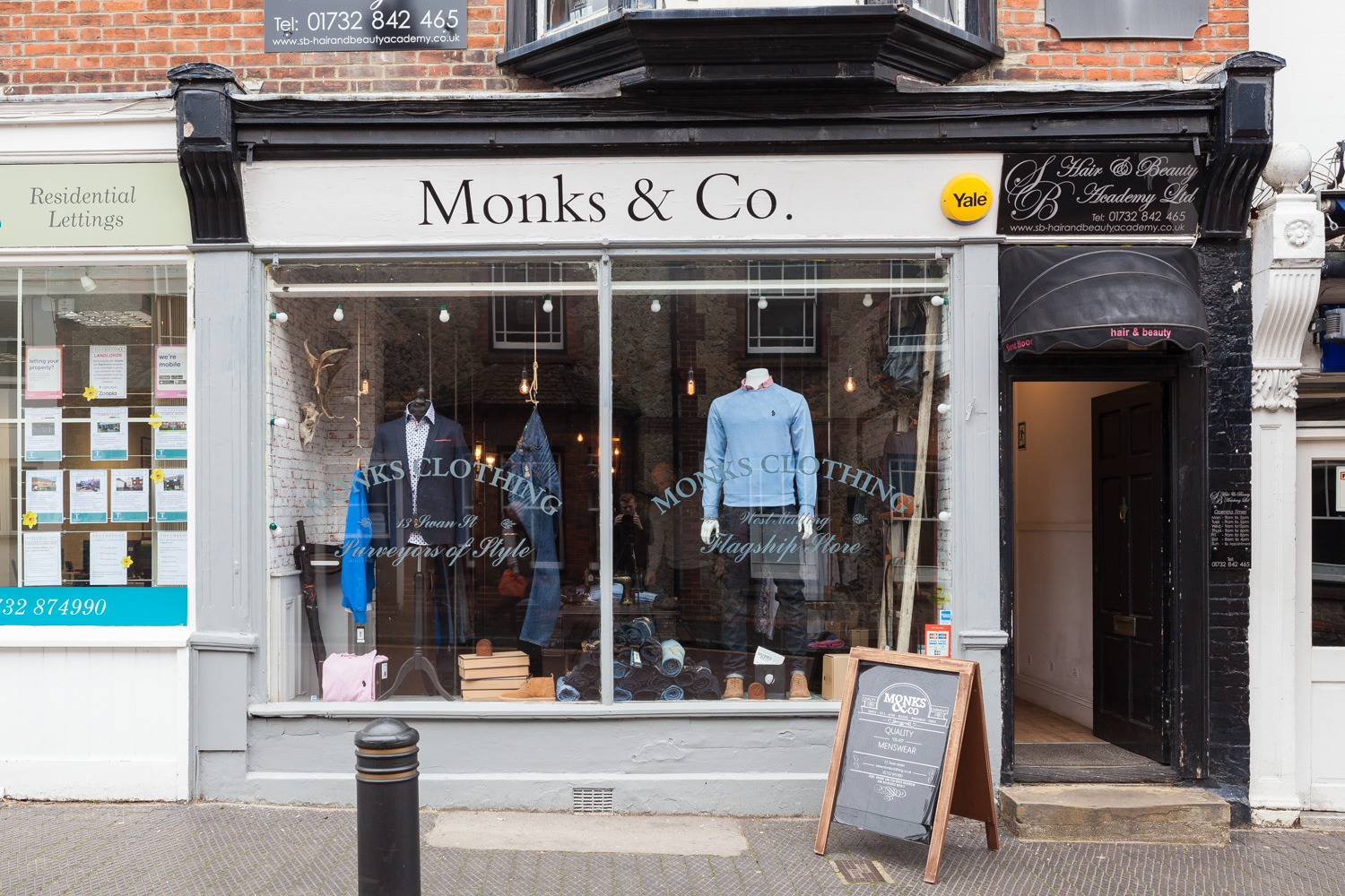 Monks Menswear West Malling exterior
