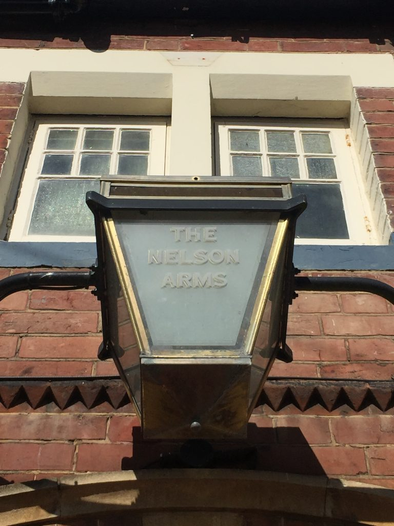 Exterior lamp at The Nelson Arms