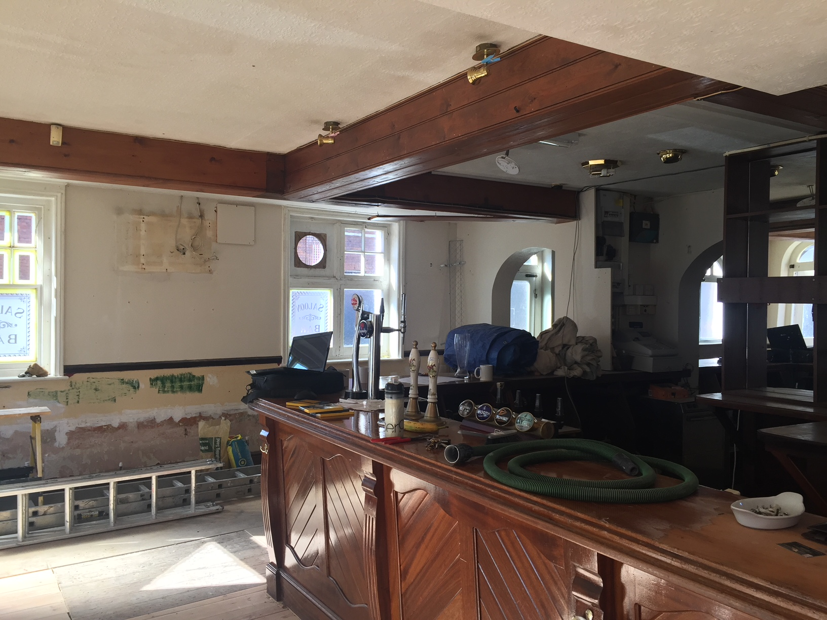 Interior view of the Nelson Arms prior to refurb
